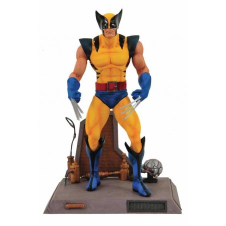 LOBEZNO TRAJE AMARILLO FIGURA 18 CM CON BASE MARVEL SELECT