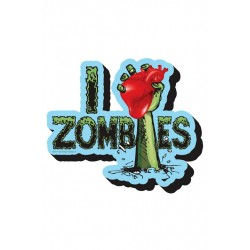 Imán Relieve I love Zombies