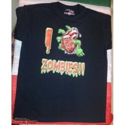 Camiseta I Love Zombies chico